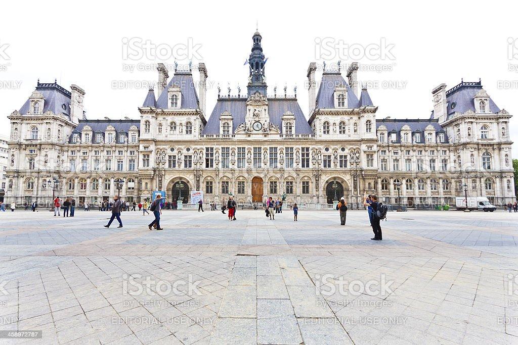 The Hôtel de Ville in Paris. royalty-free stock photo