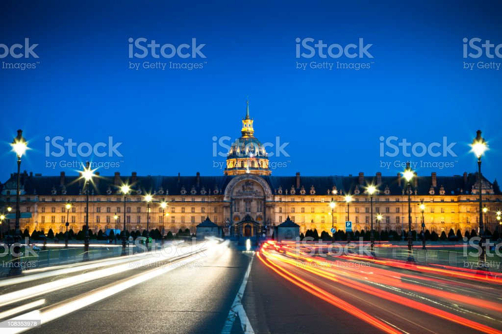 L'Hôtel national des Invalides, Paris stock photo