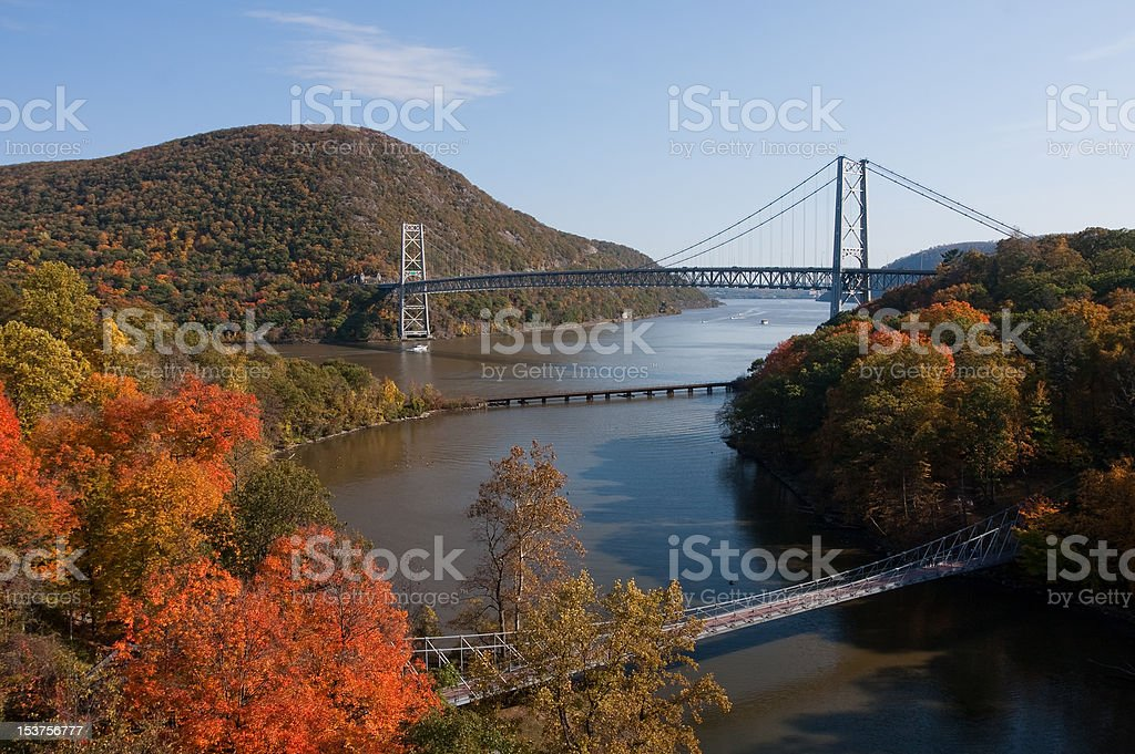 The Hudson River stock photo