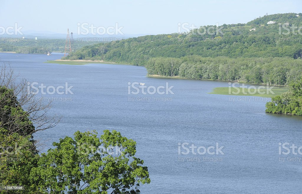 The Hudson River Valley stock photo