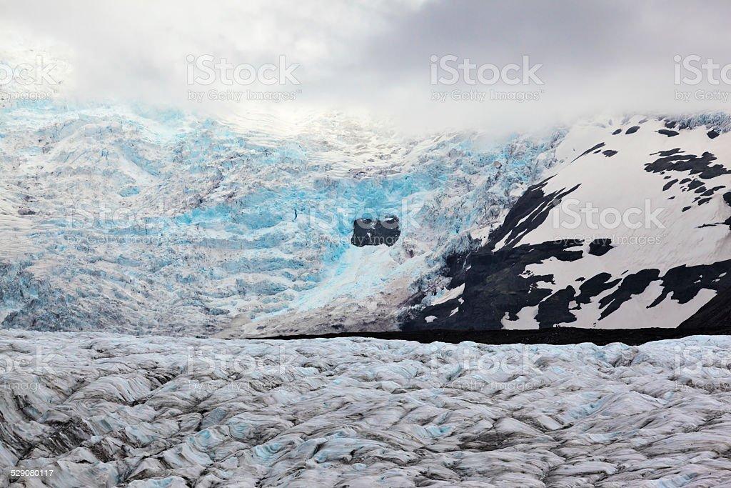 The huge Vatnajokull glacier stock photo