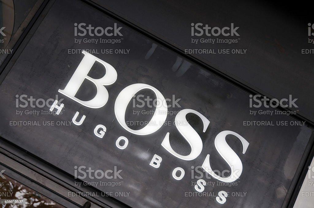 The Hugo Boss Logo stock photo