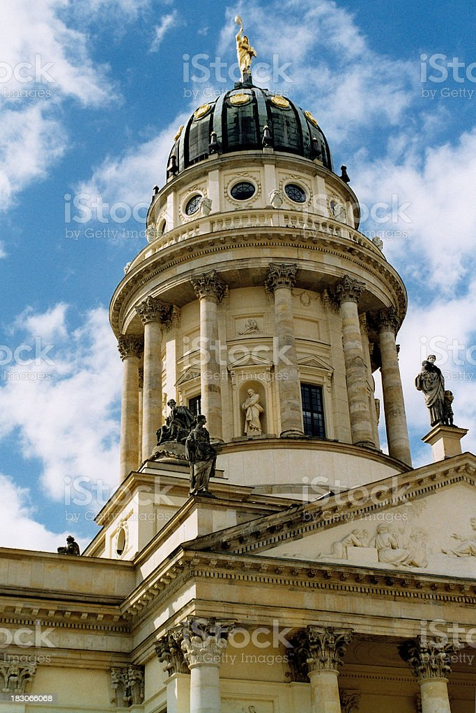 The Huguenot Franzosischer Dom in Berlin stock photo
