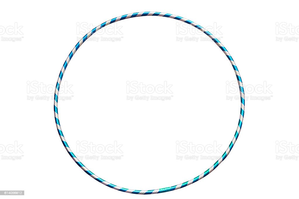 The hula Hoop light blue with silver stock photo