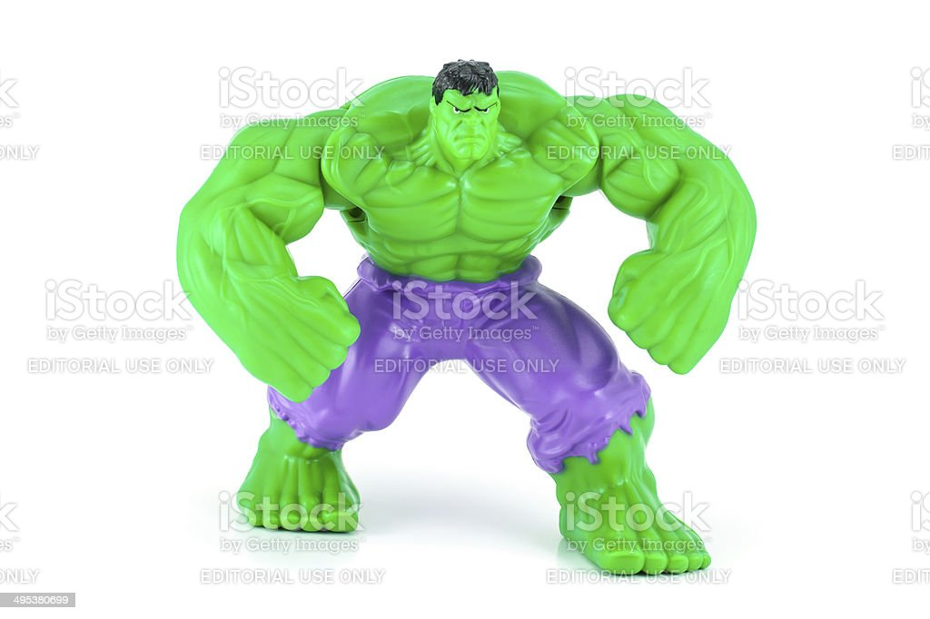 The Hulk toy character stock photo