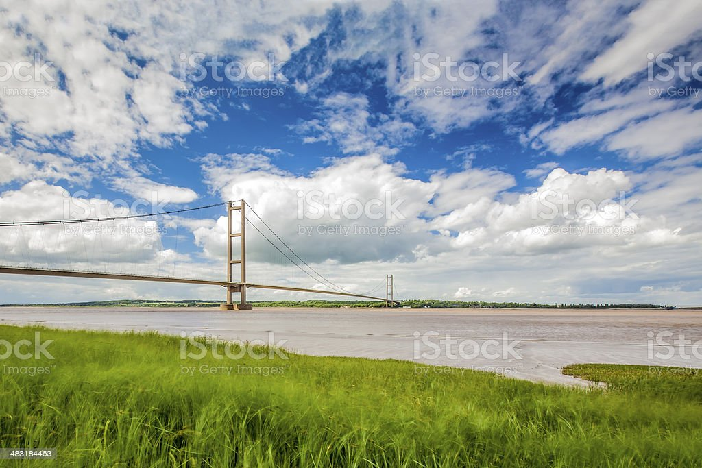 The Humber Bridge - Barton Upon Humber - England stock photo