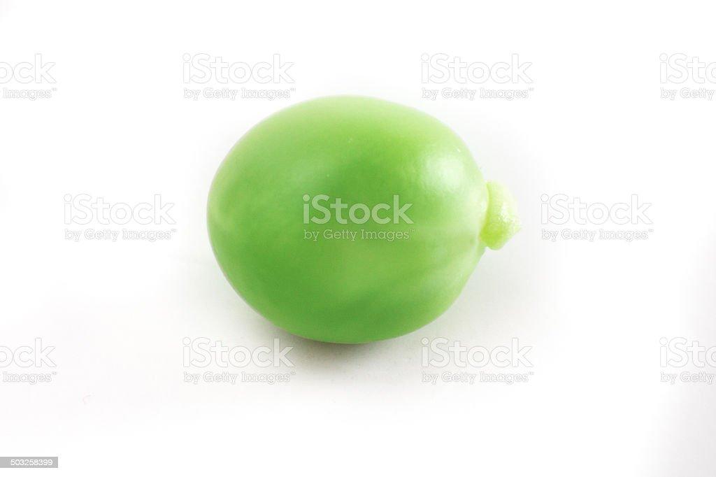 The humble green pea. stock photo