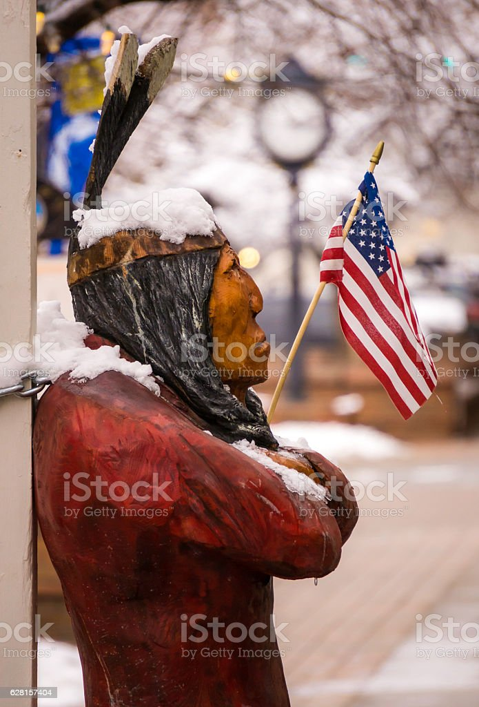 The Humbled American Indian stock photo