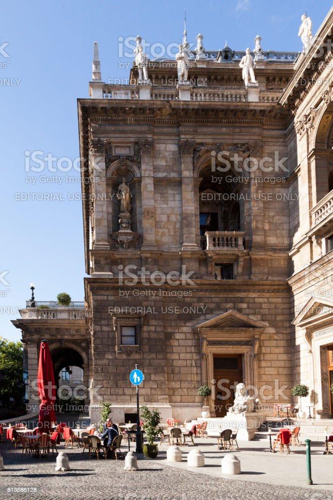 The Hungarian State Opera House   -  Budapest stock photo