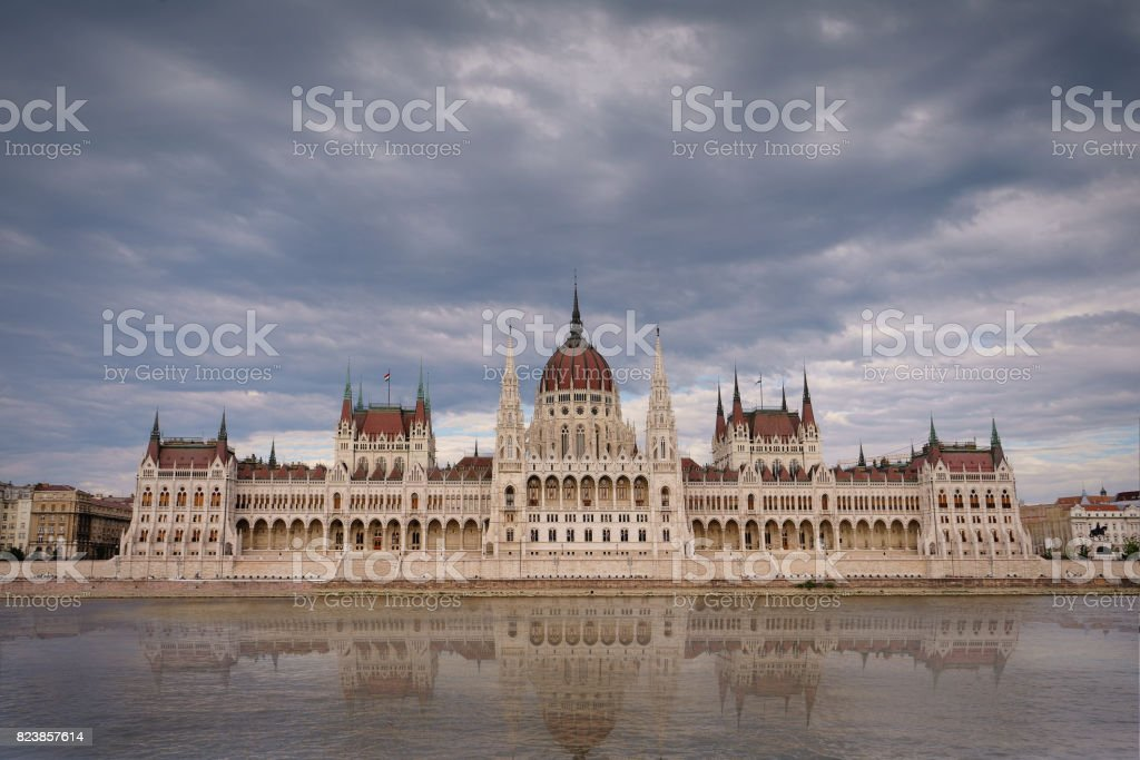 The Hungarian's parliament building stock photo