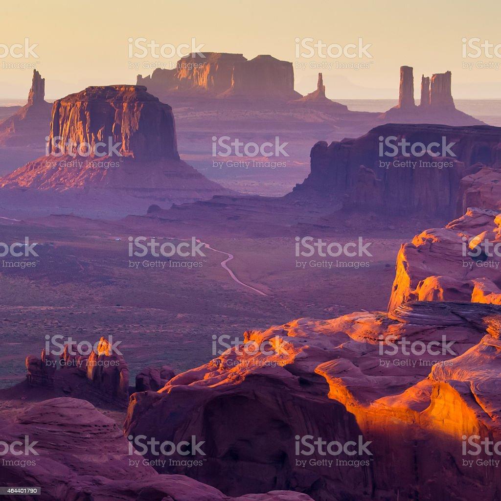 The Hunt's Mesa stock photo