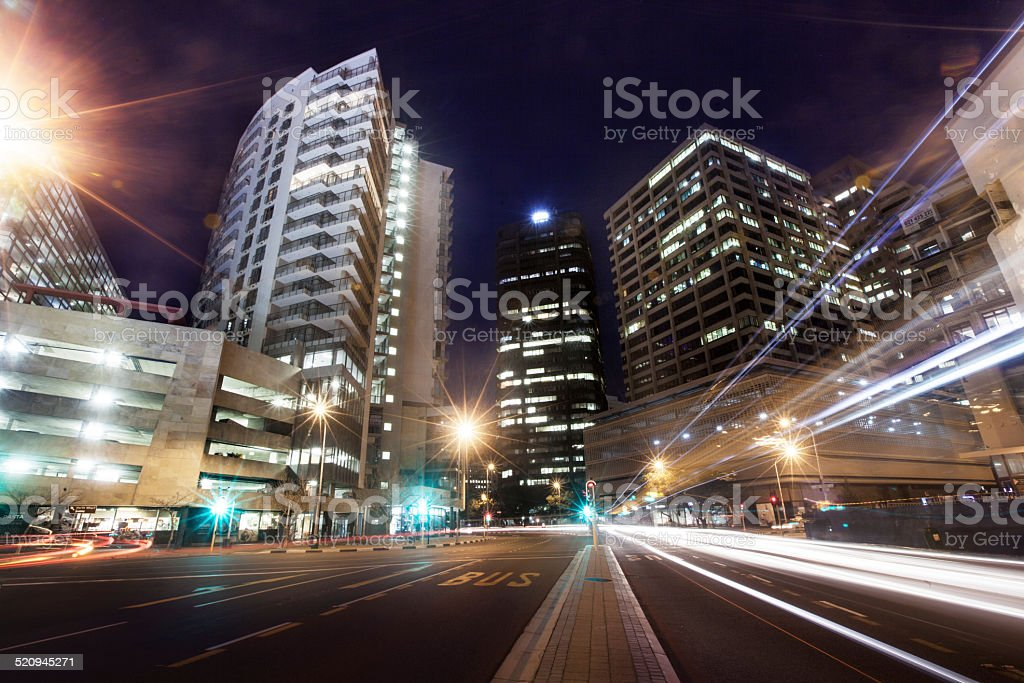 The hustle and bustle of a busy street stock photo