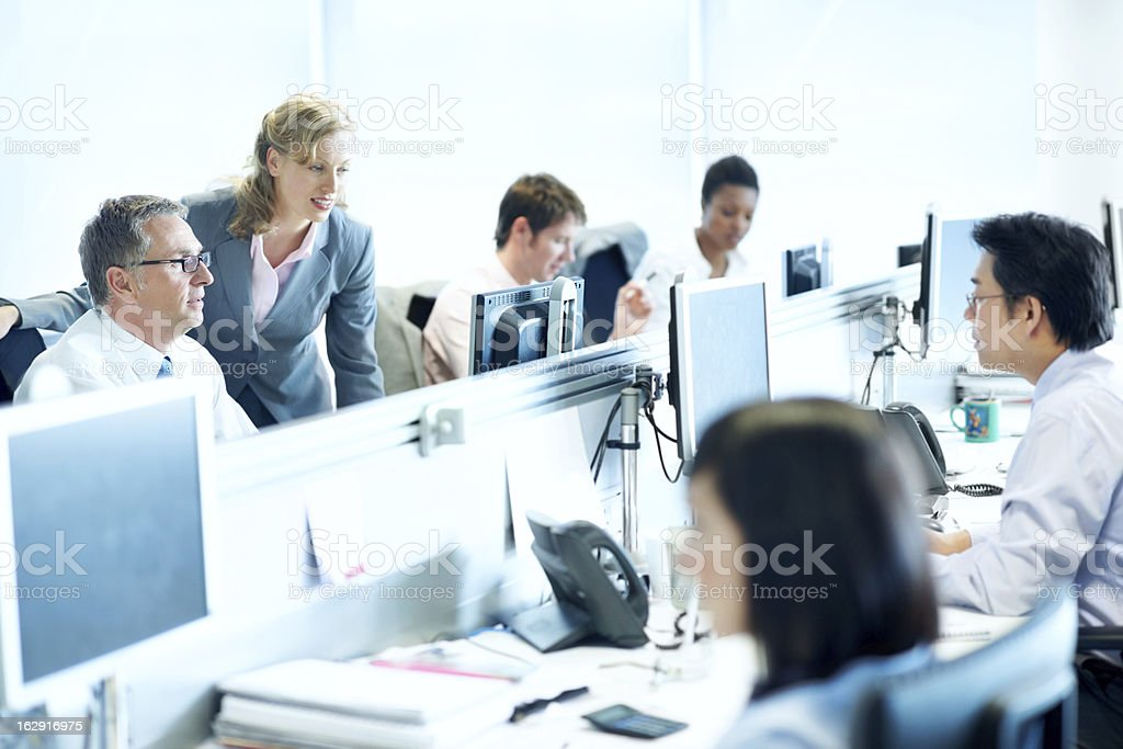 The hustle and bustle of a productive work environment royalty-free stock photo