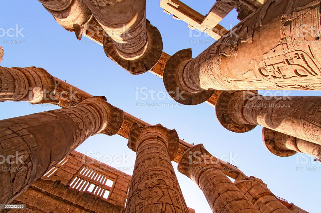 The hypo style hall @ the Karnak temple stock photo