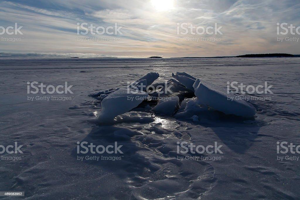 The ice blocks royalty-free stock photo