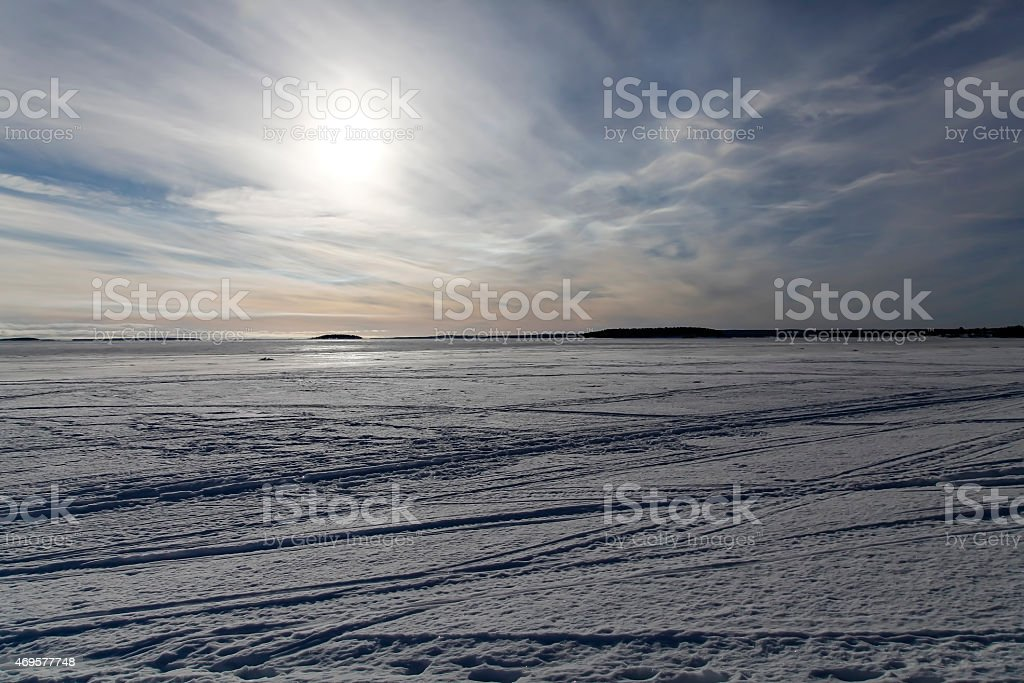 The ice field royalty-free stock photo