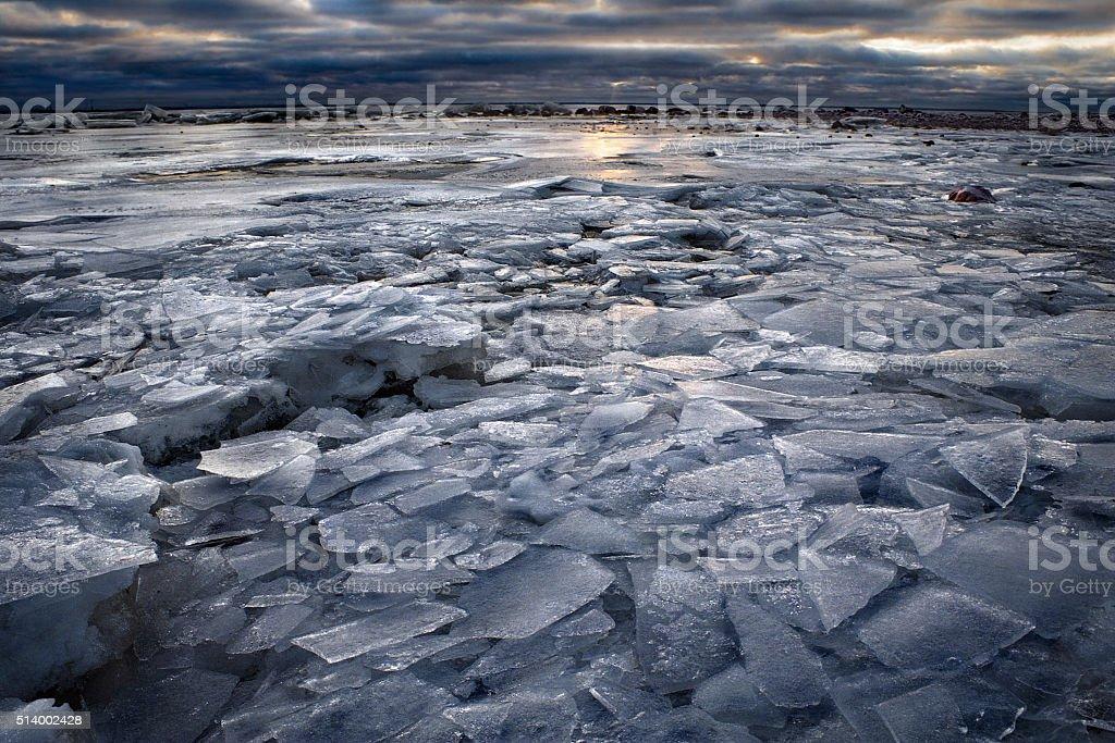 The ice landscape stock photo