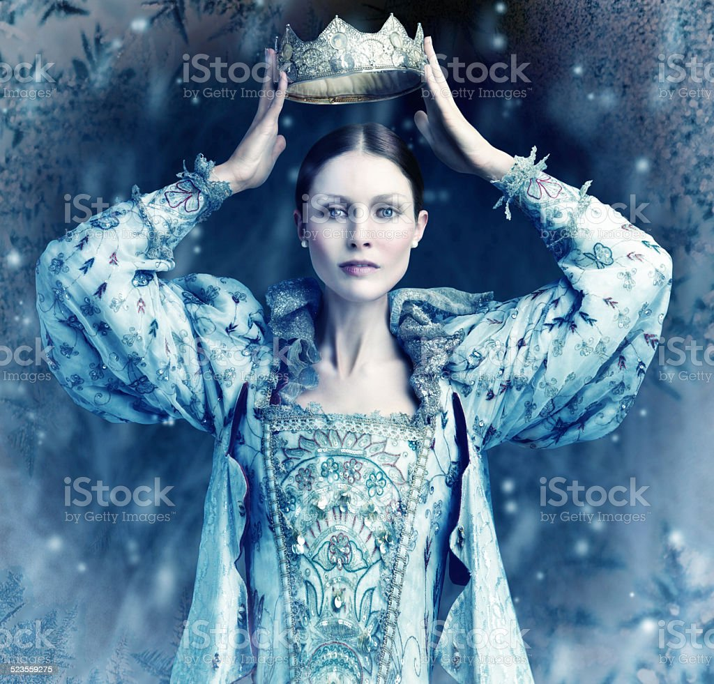 The ice queen cometh stock photo