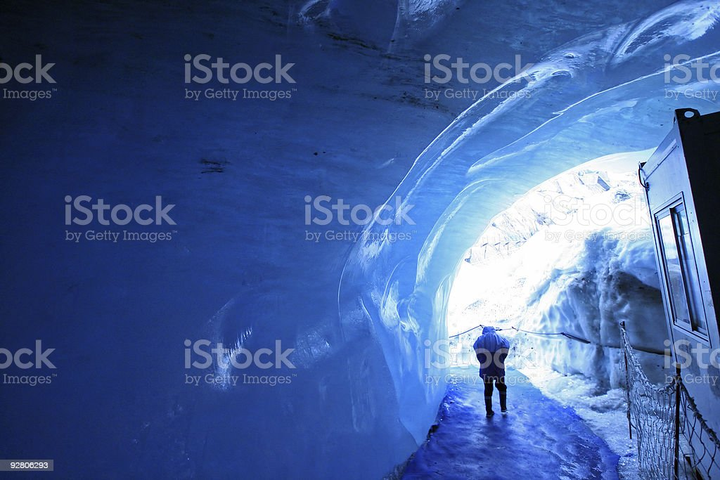 the ice tunnel royalty-free stock photo