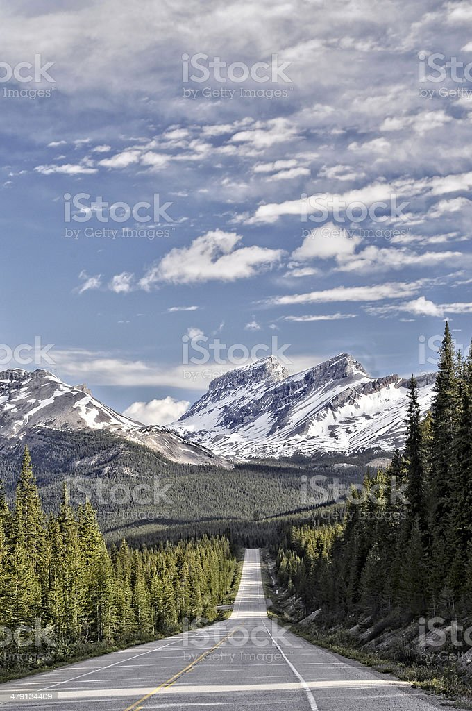 The Icefields Parkway, Alberta, Canada stock photo