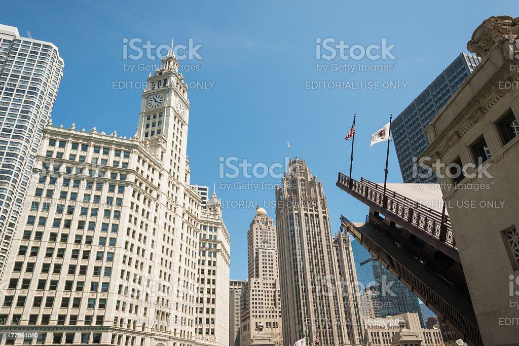 The Iconic Dusable Bridge stock photo