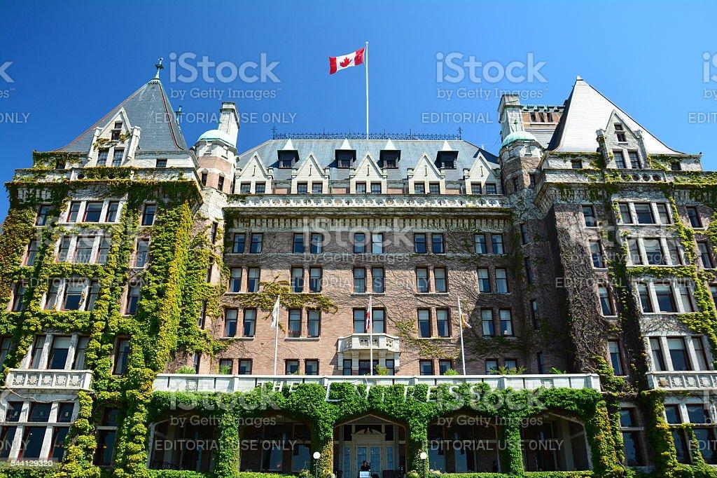 The iconic Empress Hotel stock photo