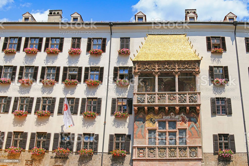 The iconic Golden Roof in Innsbruck, Austria stock photo