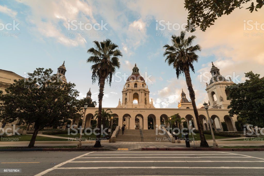 The iconic Pasadena City Hall. stock photo