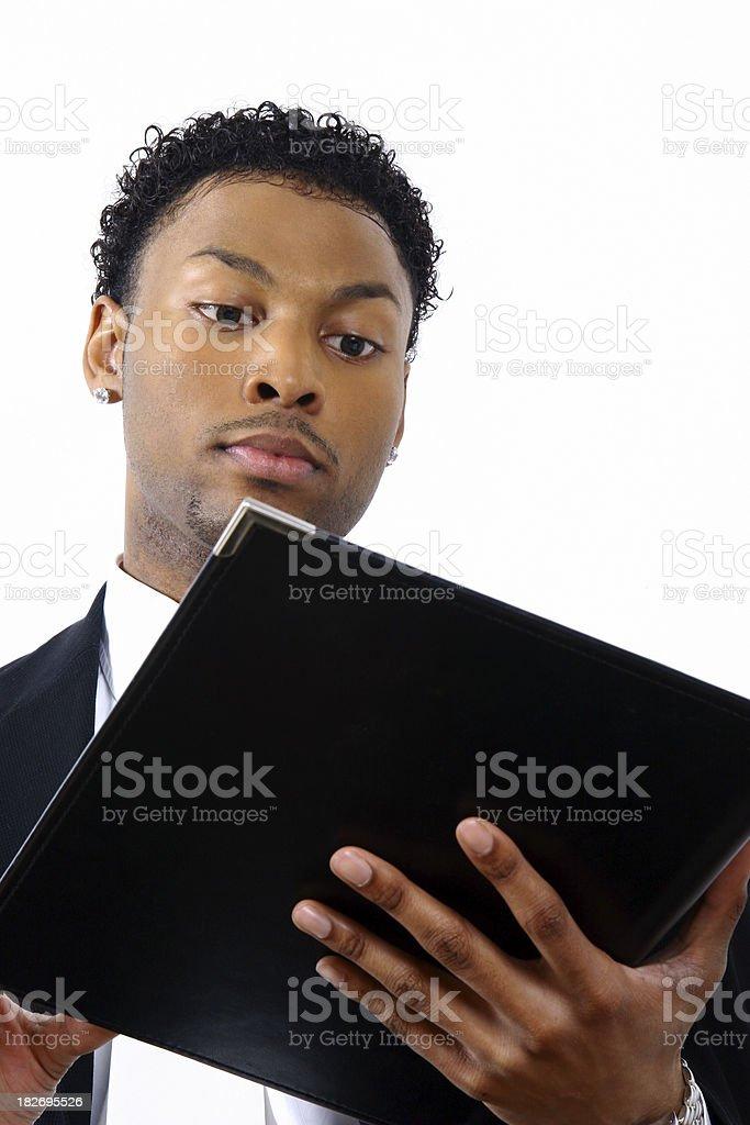 The Idea Man with Folder stock photo