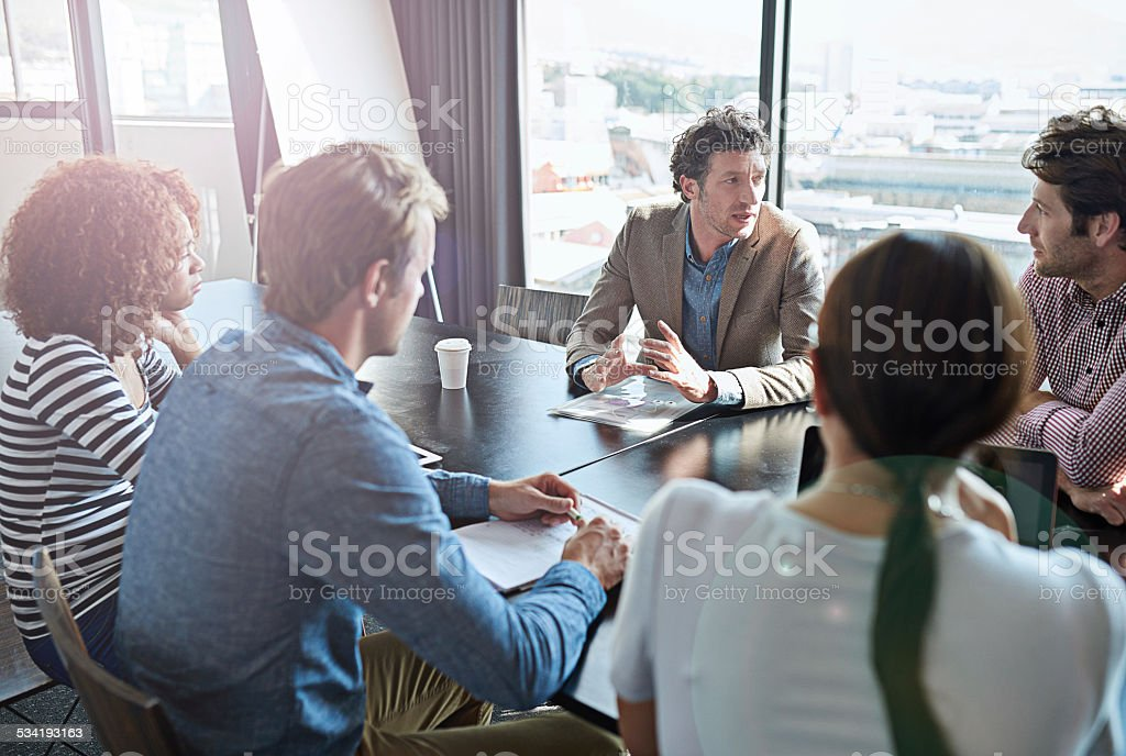 The ideas are flowing... stock photo