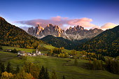 The idyllic Santa Maddalena in val di Funes, South Tyrol