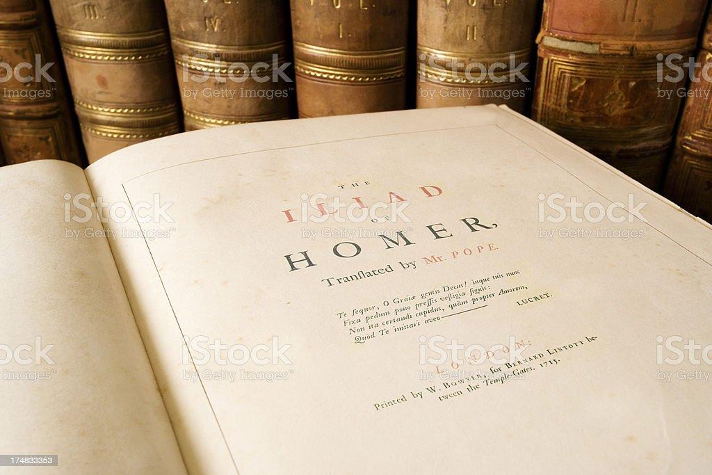 The Iliad - Homer stock photo