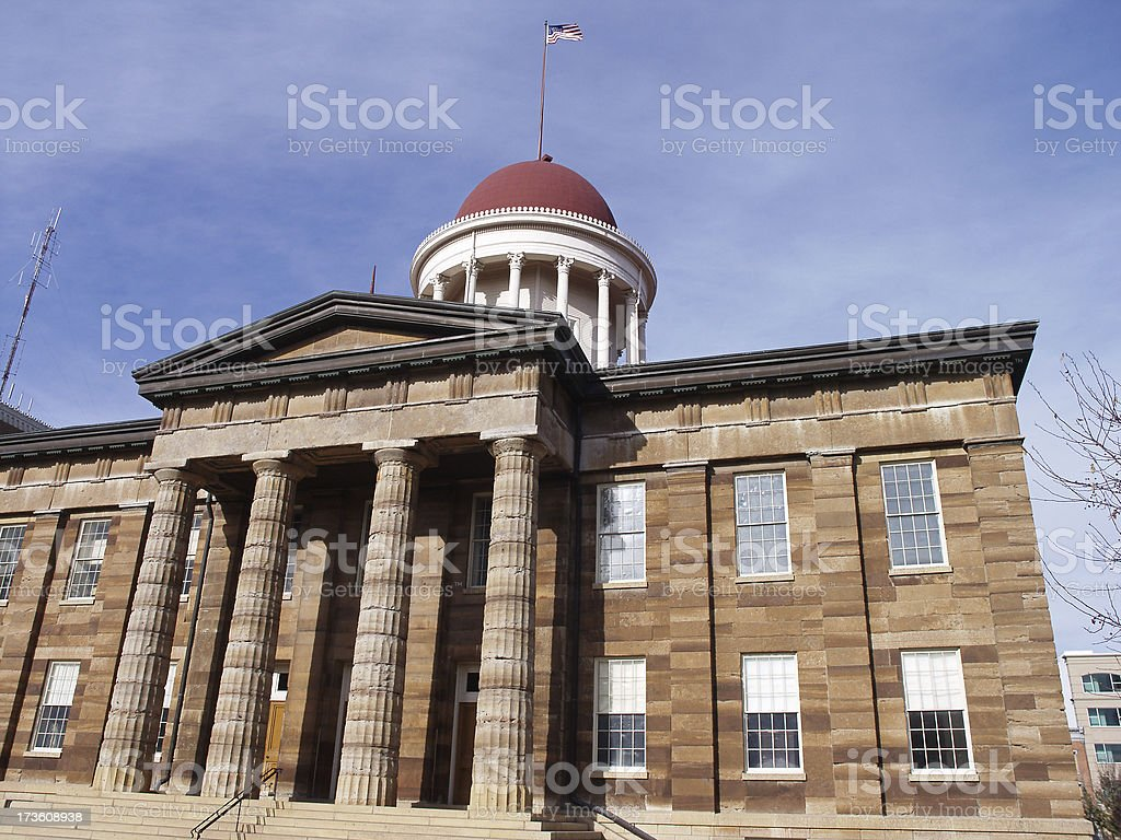 The Illinois Old State Capitol Building stock photo