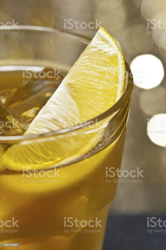 The image of a single Rusty Nail Cocktail royalty-free stock photo