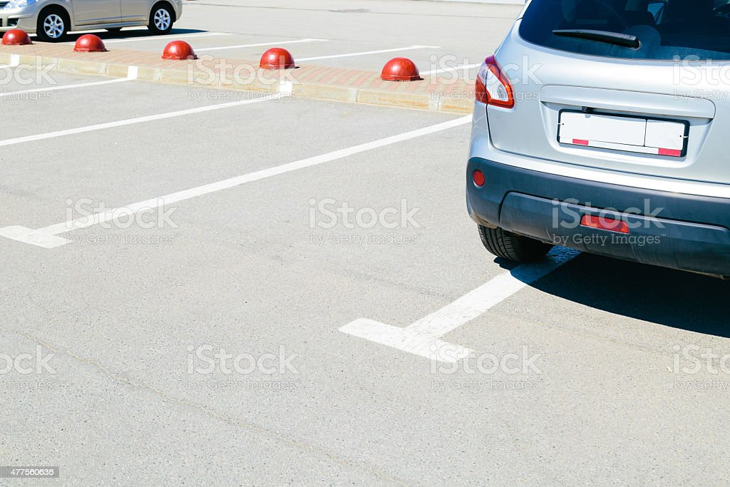 The image of cars on  parking stock photo