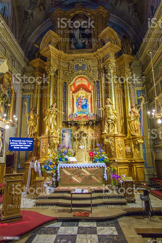 The image of Our Lady of Kalwaria in Kalwaria Paclawska, stock photo