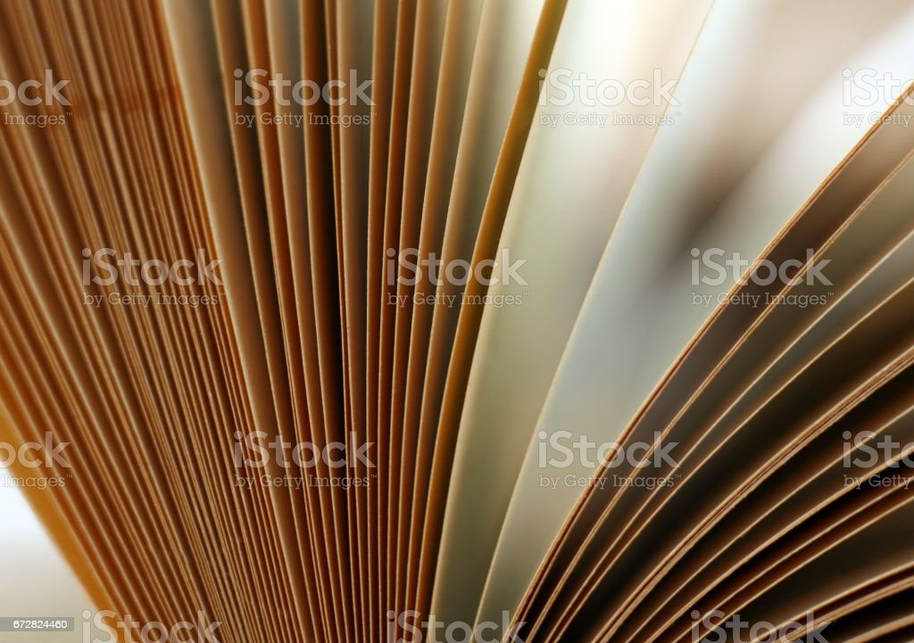 The image of the open book close-up stock photo