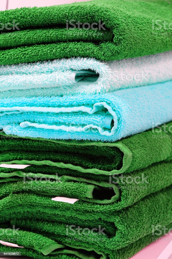 The image of towels stock photo