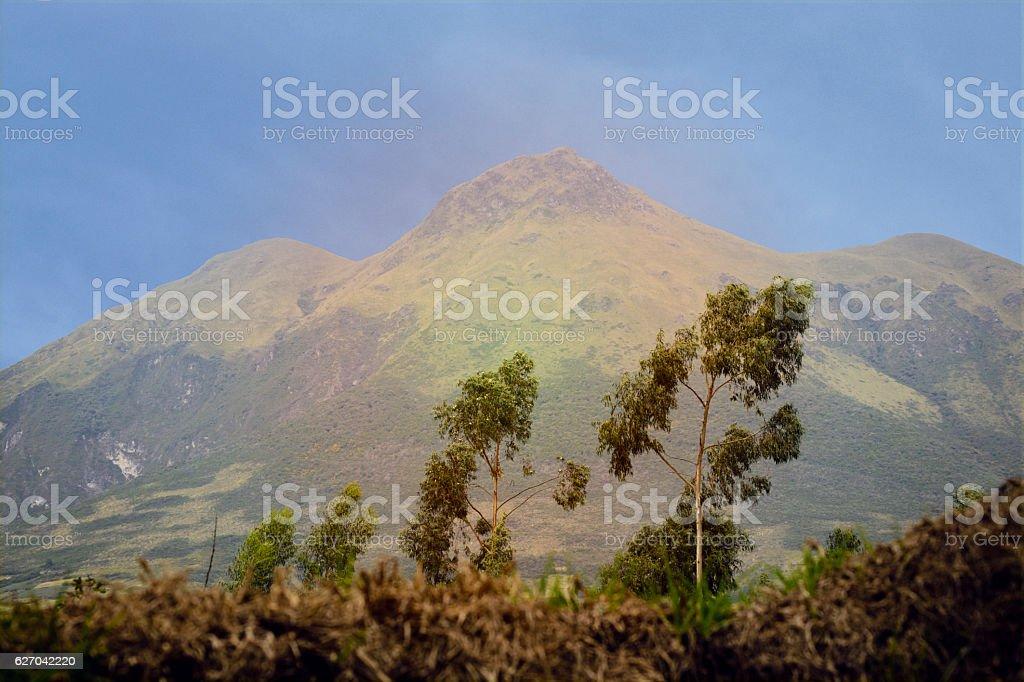 The Imbabura volcano stock photo