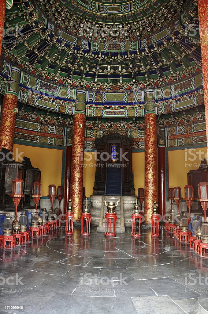 The Imperial Vault of Heaven (Indoors) stock photo