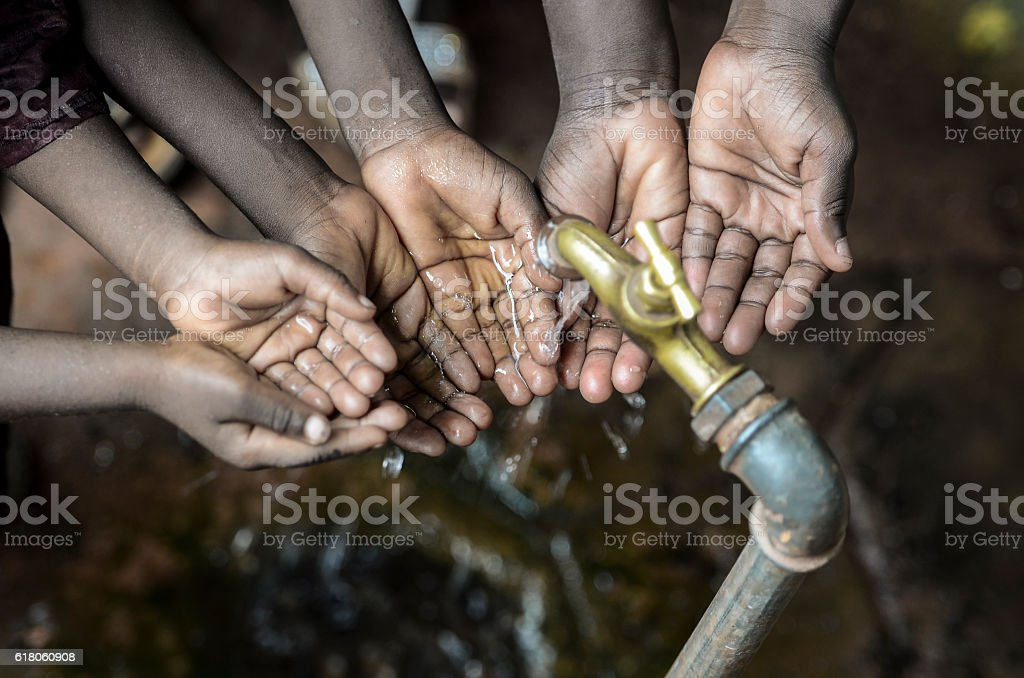The Importance of Clean Water for Africa - Symbol stock photo