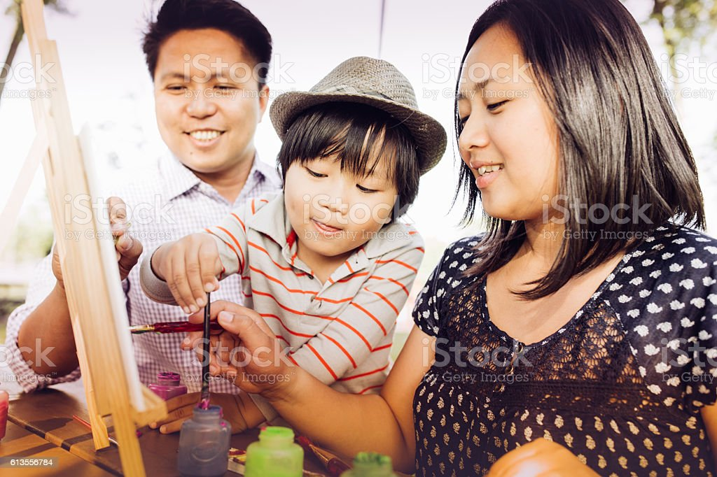 The importance of playing with kids stock photo