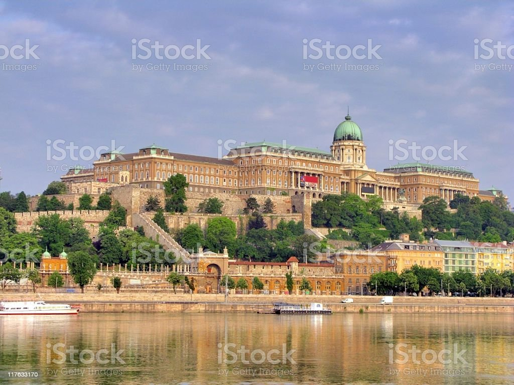 The impressive Budapest castle stock photo