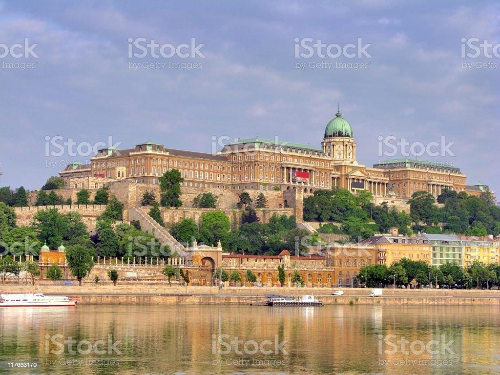 The impressive Budapest castle stock photo
