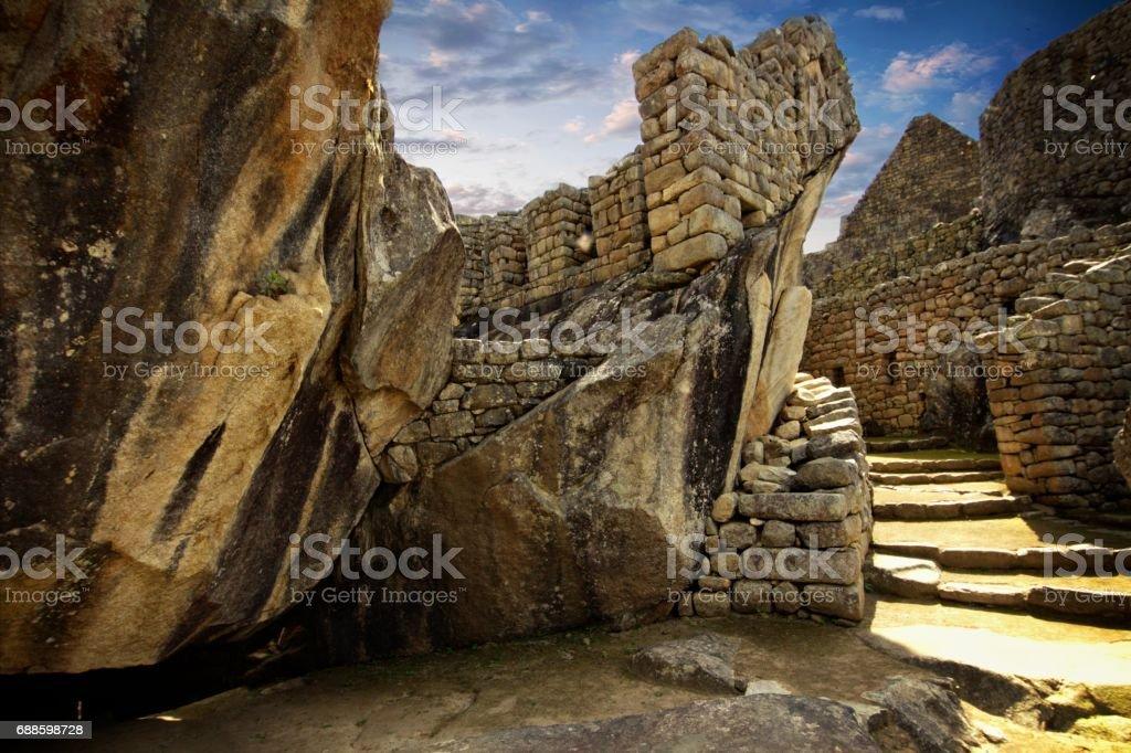 The Inca city of Machu Picchu stock photo