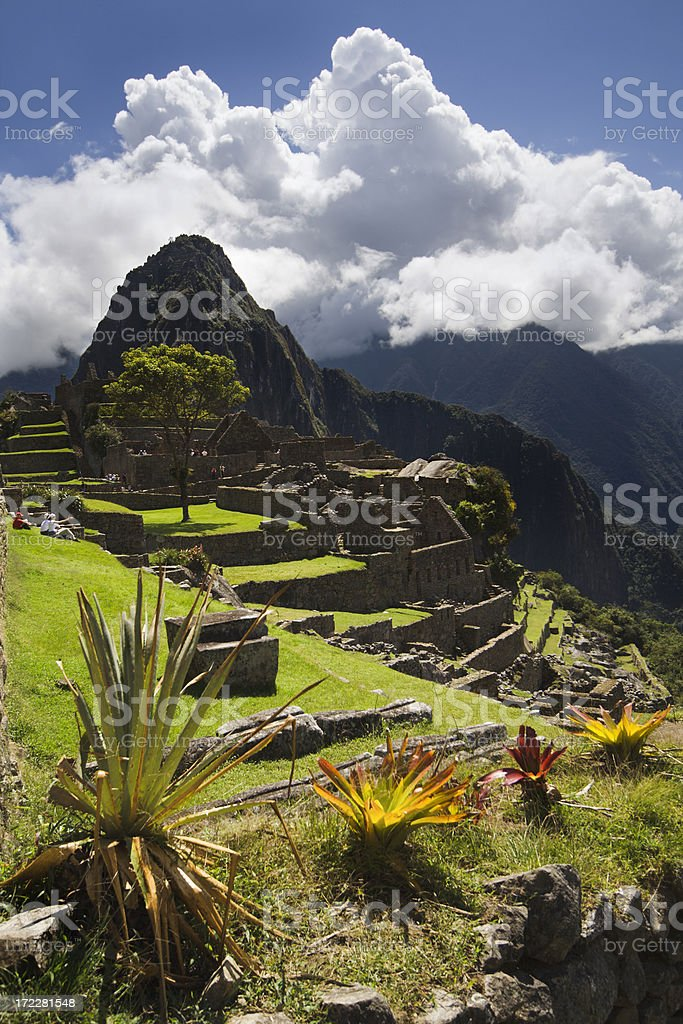 The Inca Ruin of Machu Picchu royalty-free stock photo