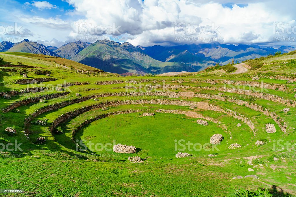 The Incan agricultural laboratory stock photo