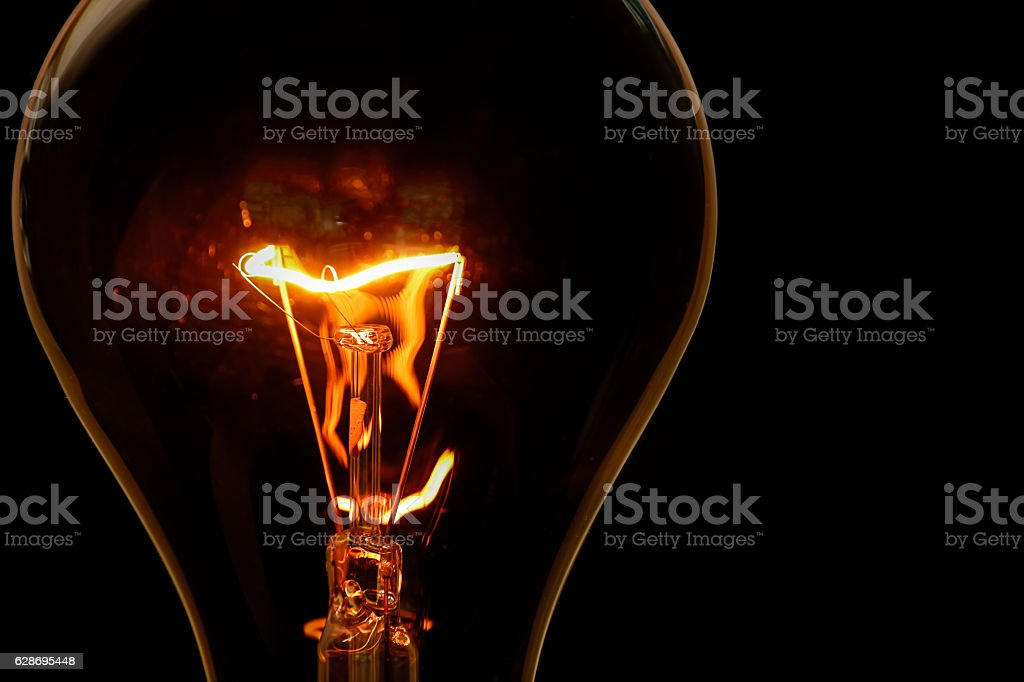 The Incandescent bulbs stock photo