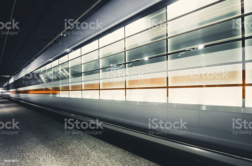The incoming train royalty-free stock photo