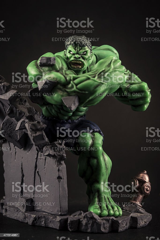 The Incredible Hulk action figure toy stock photo